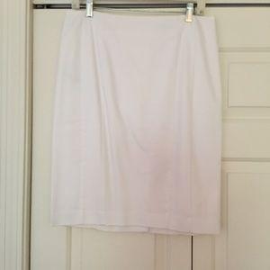 Ann Taylor White Poplin Skirt